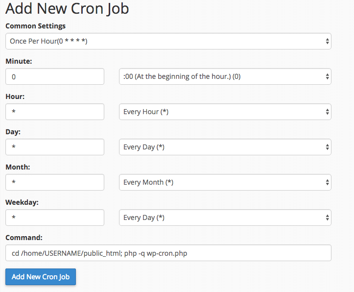 optimize wordpress cpanel wp-cron php